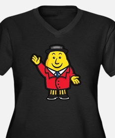 tayto Women's Plus Size Dark V-Neck T-Shirt