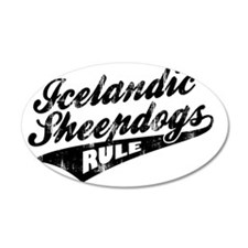 Icelandic-Sheepdogs-Rule-Bal Wall Decal