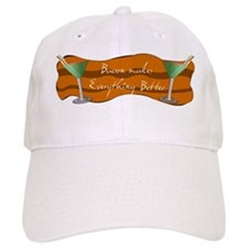 BaconMartinimug_fullBAK copy Baseball Cap