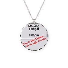 coffee-cookies Necklace Circle Charm