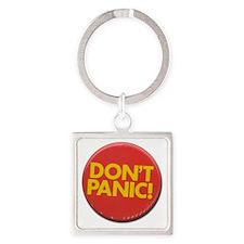 dont_panic.gif Square Keychain