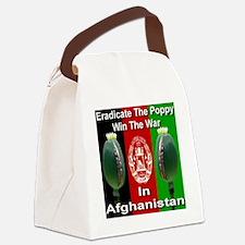 poppy_flag_afghanistan Canvas Lunch Bag