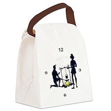 clockfacecamping1 Canvas Lunch Bag