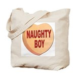 Naughty Boy Valentine Heart Tote Bag