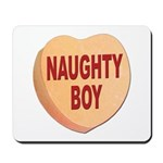 Naughty Boy Valentine Heart Mousepad