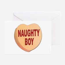 Naughty Boy Valentine Heart Greeting Cards (Packag