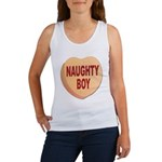 Naughty Boy Valentine Heart Women's Tank Top