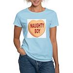 Naughty Boy Valentine Heart (Front) Women's Pink T