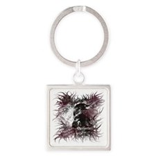 New Moon Jacob Wolf Square Keychain