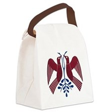 2 Red Birds Canvas Lunch Bag