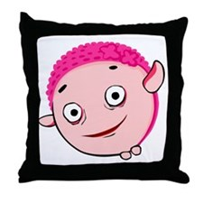 Helium in bathing cap Throw Pillow