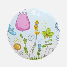 Spring Flowers Round Ornament