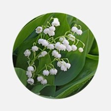 lilyofthevalley Round Ornament