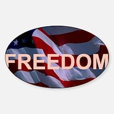 Freedom Banner Sticker (Oval)