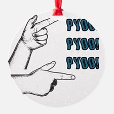 Pyoo in blue 10x10 Ornament