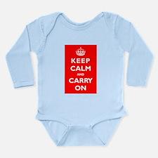 KEEP CALM and CARRY ON - Long Sleeve Infant Bodysu
