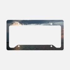 skyscape sunset clouds License Plate Holder