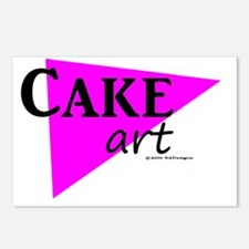 Cake Art Deco 2 Postcards (Package of 8)