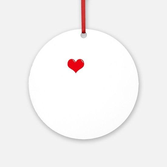 I-Love-My-Chorkie-dark Round Ornament