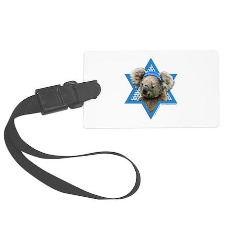 Hanukkah Star of David - Koala Large Luggage Tag