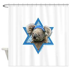 Hanukkah Star of David - Koala Shower Curtain