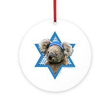 Hanukkah Star of David - Koala Ornament (Round)