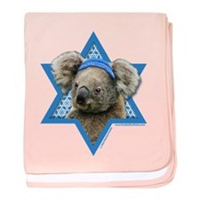 Hanukkah Star of David - Koala baby blanket