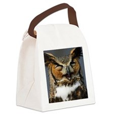 Laughing  Owl Canvas Lunch Bag