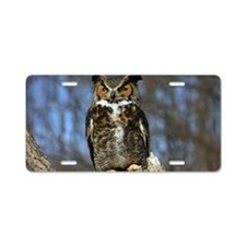 Wise Old Owl Aluminum License Plate
