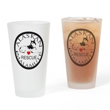 MALAMUTE RESCUE WITH HEART Drinking Glass