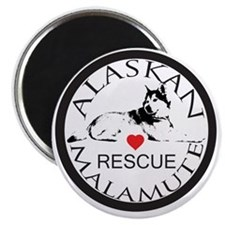 MALAMUTE RESCUE WITH HEART Magnet