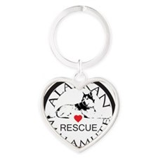 MALAMUTE RESCUE WITH HEART Heart Keychain