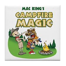 Campfire shirt 2 Tile Coaster