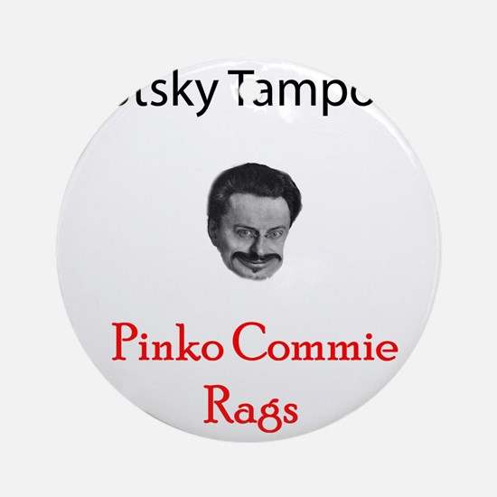 2-trotsky Round Ornament