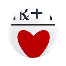 """Virgo + Aries = Love 3.5"""" Button (100 pack)"""