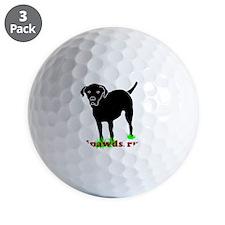 Rear Leg Tripawds Three Legged Black La Golf Ball