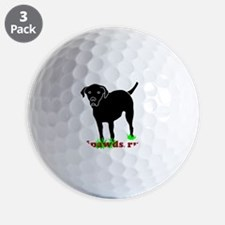 Rear Leg Tripawds Three Legged Black La Golf Ball