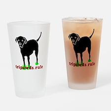 Rear Leg Tripawds Three Legged Blac Drinking Glass