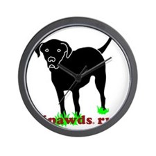 Rear Leg Tripawds Three Legged Black La Wall Clock