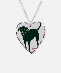 Three Legged Black Lab Rear T Necklace
