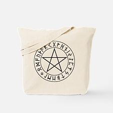 Rune Shield Pentacle Tote Bag