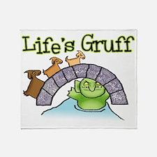 Goats Gruff Throw Blanket