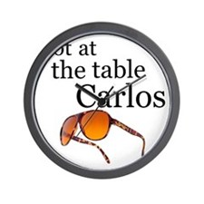 not at the table carlos Wall Clock