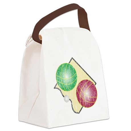 Distressed Bocce Logo Canvas Lunch Bag