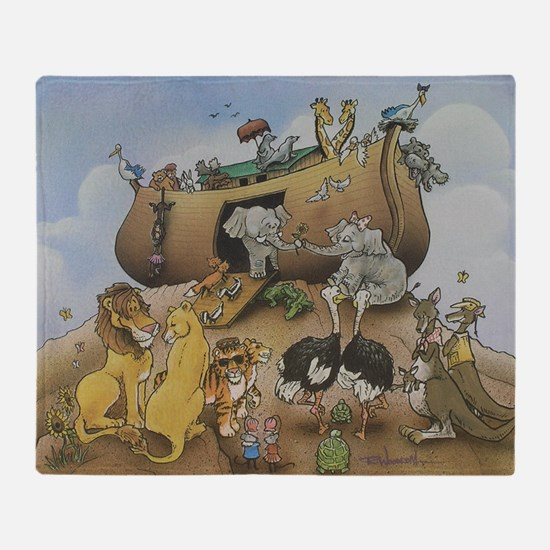 noahs ark 12x9 Throw Blanket