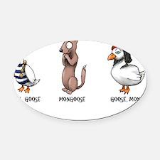 goose Oval Car Magnet
