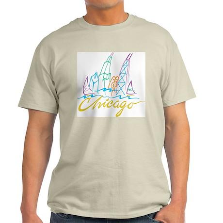 Chicago Stylized Skyline Light T-Shirt