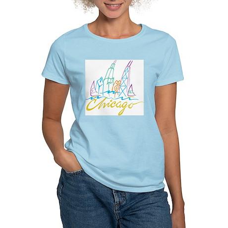 Chicago Stylized Skyline Women's Light T-Shirt