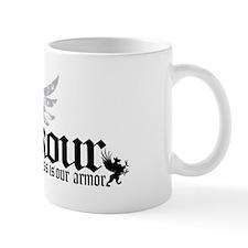 Fitness is our armor black Mug