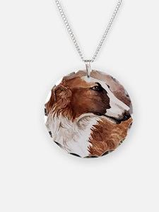 Borzoi Head Necklace